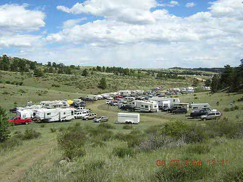2004 Bowhunters Weekend Campers at the shoot