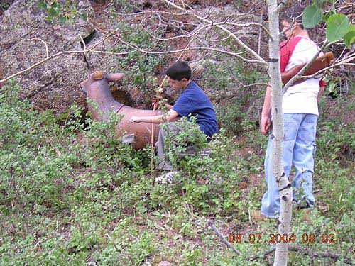 2004 Bowhunters Weekend Two young shooters make a