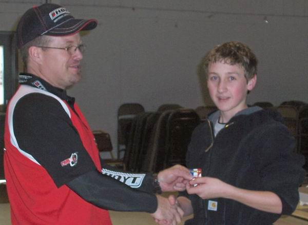 2007 WSAA Kevin Hoover receiving his State indoor